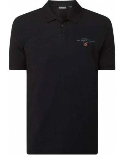 T-shirt bawełniana - czarna Napapijri