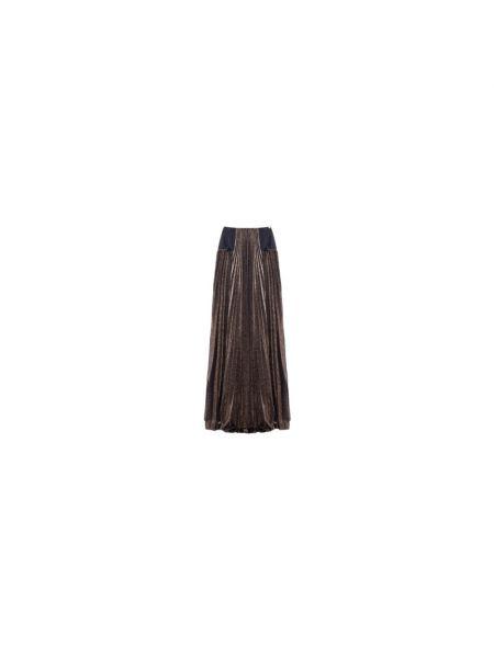 Brokatowa fioletowa długa spódnica Nenette