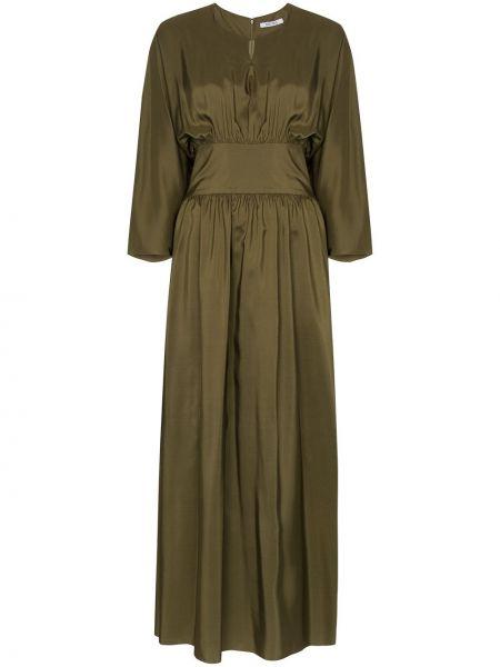 Зеленое шелковое платье Deitas