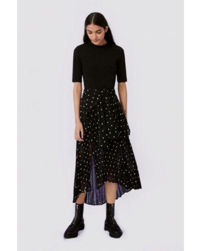 Повседневное черное платье Maje