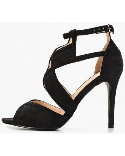 Босоножки черные на каблуке Bellamica