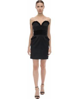 Платье с поясом на молнии с воротником Moschino