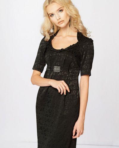 Коктейльное платье осеннее черное Ано