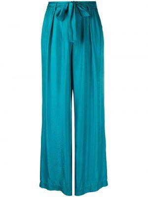 Шелковые брюки - синие Forte Forte