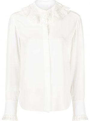 Шелковая белая рубашка на пуговицах Chloé