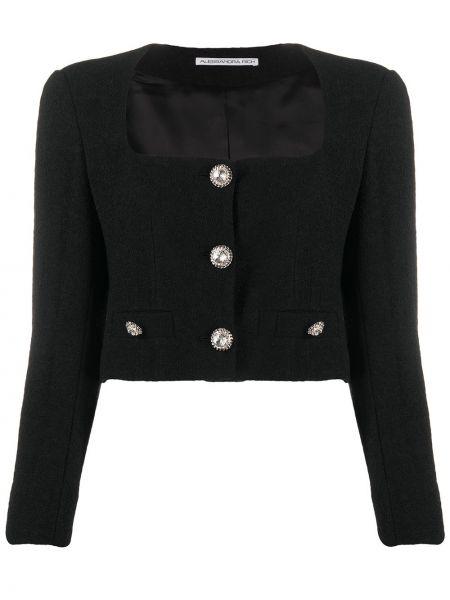 Шерстяной черный короткая куртка двубортный Alessandra Rich
