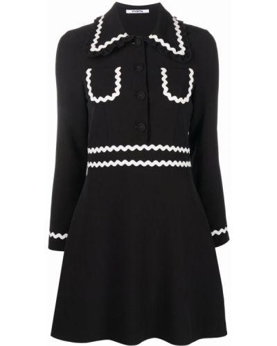 Czarna sukienka długa z długimi rękawami Vivetta