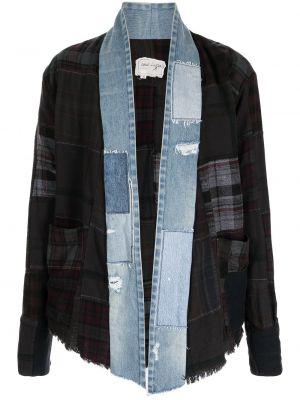 Черная хлопковая куртка Greg Lauren