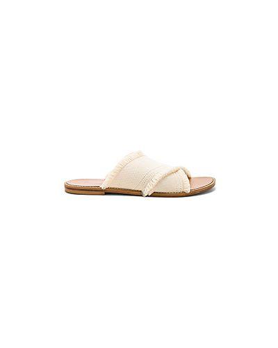 Белые шлепанцы на каблуке Splendid