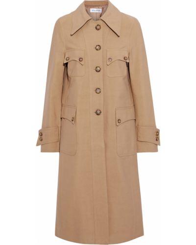 Хлопковое пальто с карманами на пуговицах Victoria Beckham