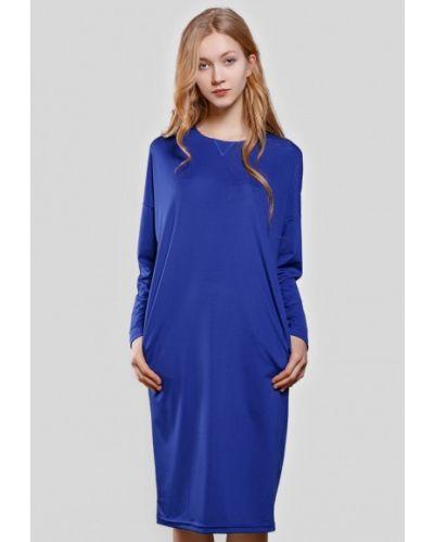 Синее платье весеннее Sfn