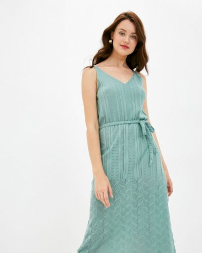 Прямое бирюзовое платье Trendyol