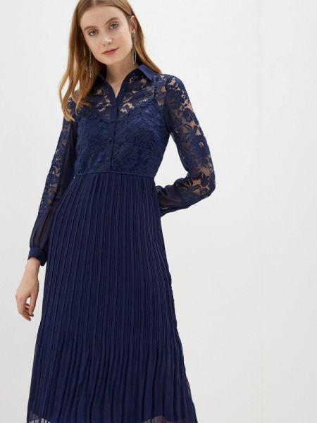 Вечернее платье синее весеннее Little Mistress