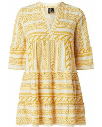 Tunika bawełniana - żółta Vero Moda