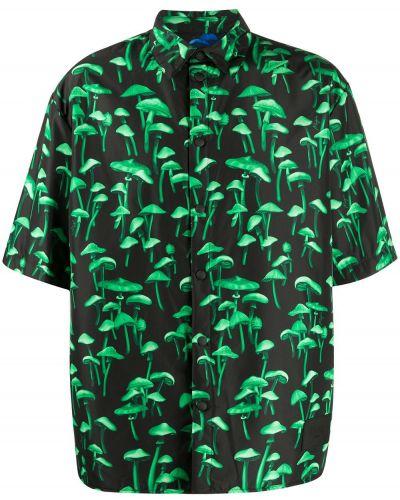 Рубашка с коротким рукавом - черная Msgm