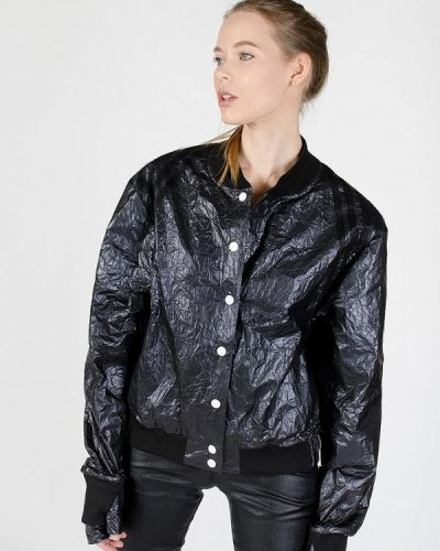 Кожаная куртка весенняя черная Kriza