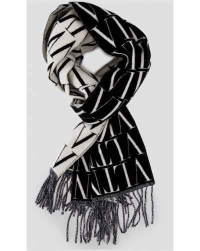 Szalik w paski - czarny Valentino