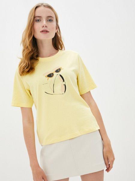 Желтая футболка с короткими рукавами Sela