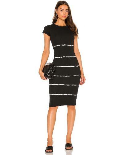 Черное хлопковое платье Allsaints