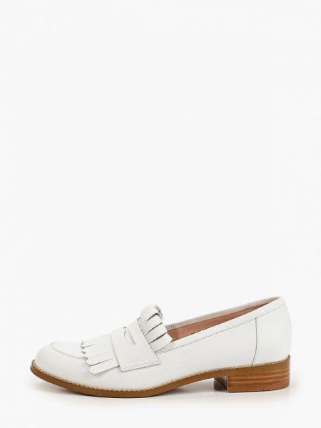 Белые кожаные туфли из натуральной кожи Giotto