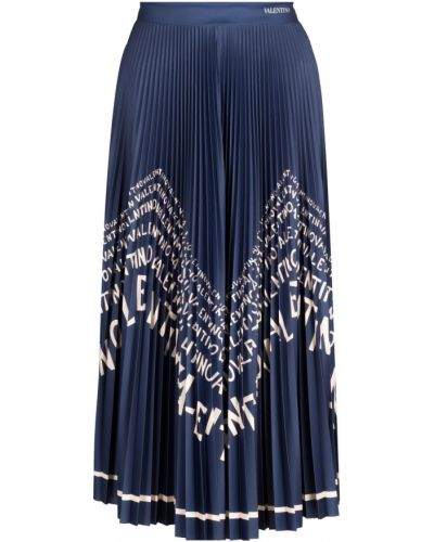 Плиссированная юбка миди с поясом Valentino