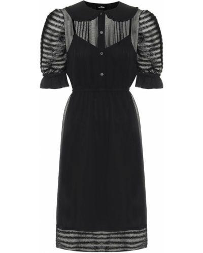 Шифоновое черное вечернее платье винтажное Marc Jacobs