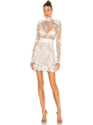 Biała sukienka wieczorowa tiulowa z haftem Zhivago