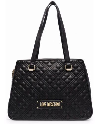 Черная сумка тоут Love Moschino