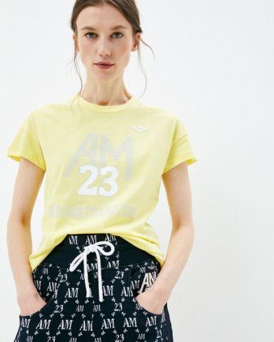 Желтая футболка с короткими рукавами Aeronautica Militare
