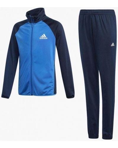 Синий спортивный костюм Adidas