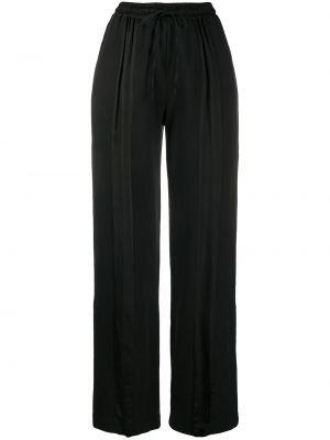 Черные расклешенные брюки с поясом с высокой посадкой Andrea Ya'aqov