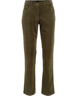 Классические брюки вельветовые зеленый Bonprix