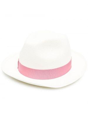Różowy kapelusz Borsalino