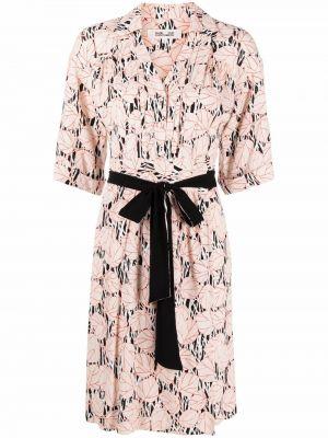 Розовое платье мини трапеция Dvf Diane Von Furstenberg