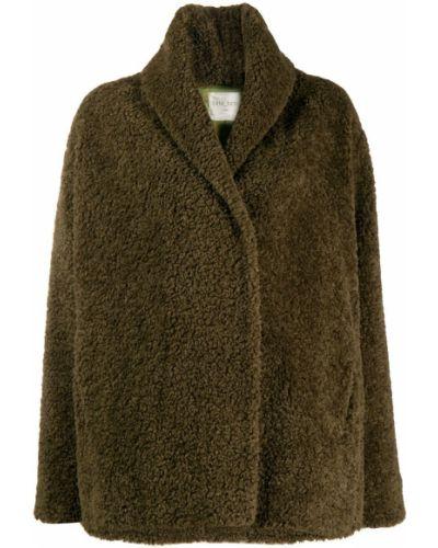 Коричневая длинная куртка Forte Forte