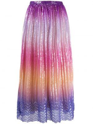 Юбка миди с завышенной талией - фиолетовая Marco De Vincenzo
