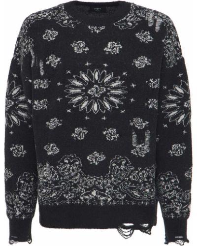Prążkowany czarny sweter Other