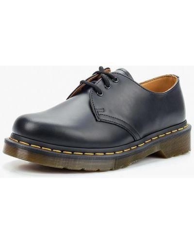 Кожаные сапоги осенние на каблуке Dr. Martens