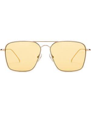 Złote okulary Illesteva
