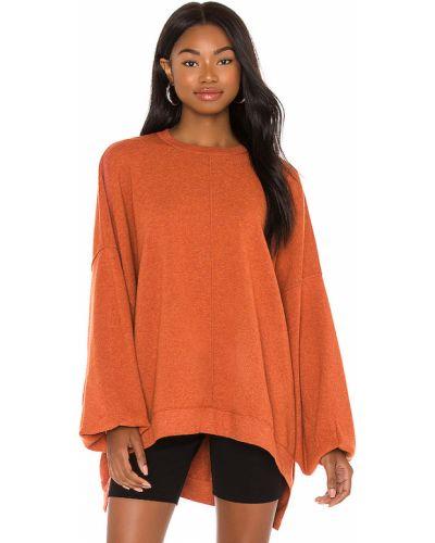 Bawełna bawełna pomarańczowy pulower bezpłatne cięcie Free People