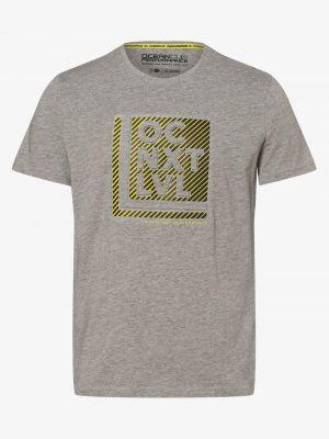 Szary t-shirt z printem Ocean Cup