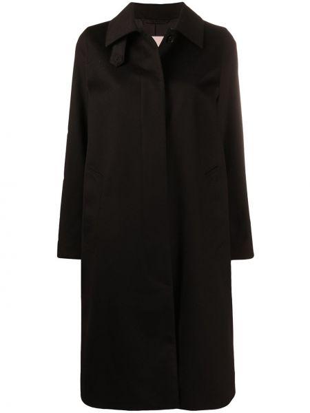 Шерстяное черное пальто классическое с воротником Mackintosh