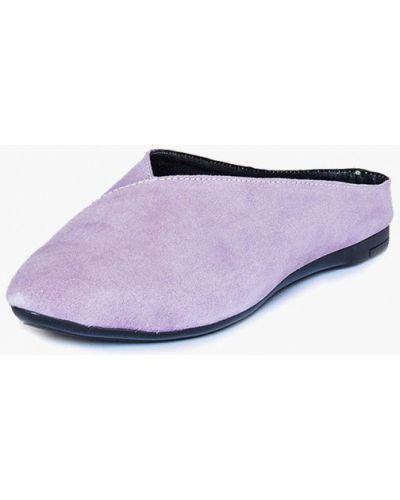 Сабо замшевые фиолетовый Handys