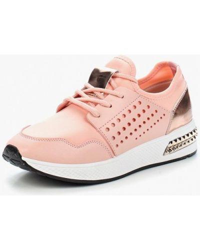 Розовые кроссовки из искусственной кожи Saivvila