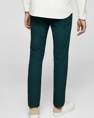 Зеленые зауженные брюки Mango Man