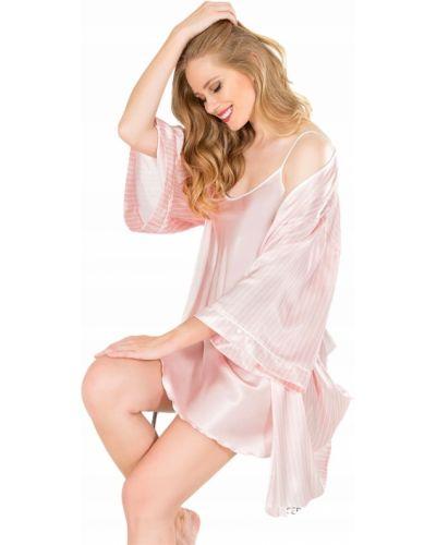 Satyna różowy szlafrok Victoria's Secret