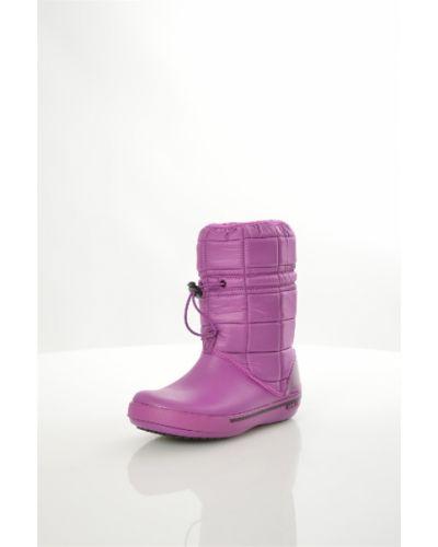 Дутики водонепроницаемые - фиолетовые Crocs