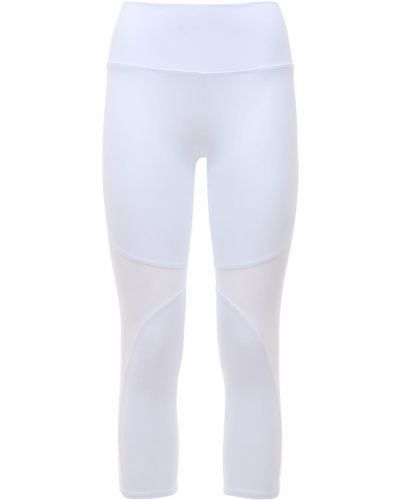 Белые леггинсы с высокой посадкой на резинке Alo Yoga