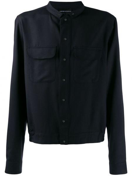 Koszula z długim rękawem długa ciemny Emporio Armani