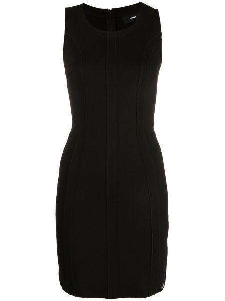 Трикотажное черное платье без рукавов Diesel